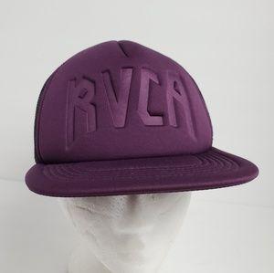 RVCA Purple Mesh Net Back Snapback Hat
